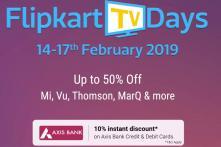 Flipkart TV Days Sale: Discounts on LG, Vu, Mi And More Till February 17