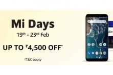 Xiaomi Mi Days Sale: Offers on Redmi 6A, Redmi 6 Pro, Mi A2, Mi LED TV and More