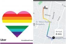 Uber India Celebrates First Valentine's Day Since Decriminalisation of 377 with 'Pride Heart' and Rainbows