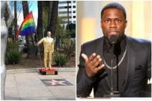 Statue of Kevin Hart with Pride Flag Appears Outside Oscar Venue to Protest His Old Homophobic Tweets