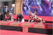Avengers Cast Gets Hands and Feet Imprinted into Cement at TCL Chinese Theater, See Video