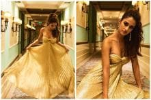 Bharat Actress Disha Patani Shows How to Make Heads Turn in Gold Metallic Dress