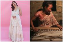 Alia Bhatt Casts a Spell in Gold & Ivory Suit Handspun by Local Artisans of Northeast India