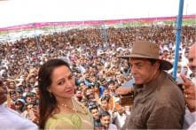 'Vote for Hema Malini': Smiling Dharmendra Hits the Campaign Trail With BJP MP Wife