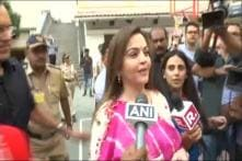 Elections 2019, 4th Phase: Nita Ambani Casts Vote and Urges Everyone to Vote as Responsible Citizens