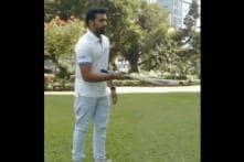 Rohit Sharma Launches #BatFlip Challenge on Twitter