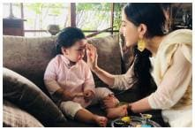 Sara Ali Khan Dotes on Little Brother Taimur, Calls Him a Bundle of Happiness