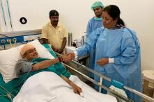 Nirmala Sitharaman Meets Injured Shashi Tharoor in Hospital