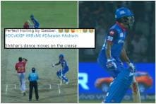 Dhawan Twerks Hilariously after Dodging Another 'Mankad' Attempt by Ashwin