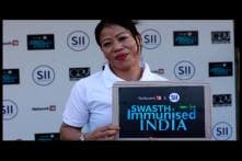 MC Mary Kom Extends Her Support to #SwasthImmunisedIndia