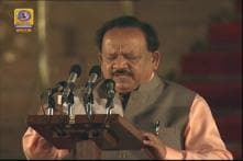 Harsh Vardhan Takes Oath as Cabinet Minister
