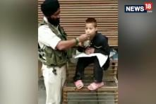 CRPF Jawan Wins Hearts For Feeding A Paralyzed Kid