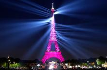 PICS: Eiffel Tower Celebrates 130th Birthday With Laser Light Show