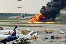 PHOTOS: Covered in Flames, Russian Plane Lands in Moscow Airport