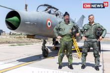 Air Chief Flies MiG-21 to Pay Tribute to IAF Sqn. Leader Ajay Ahuja Killed in 1999 Kargil War - Watch Video