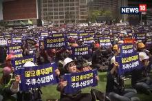 Thousands Of Activists In Seoul Demand Better Working Conditions