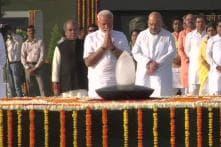 Ahead of Swearing-in Ceremony, PM Modi Pays Tributes to Mahatma Gandhi, Atal Bihari Vajpayee