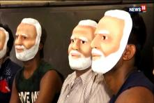 Sweet Shop Workers Don Modi Masks To Prepare Mithai For BJP's Candidate Gopal Shetty