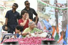 In Pictures: Priyanka Gandhi Vadra's Mega Roadshow In Delhi