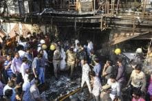 Surat Fire: Viral Video Shows Children Jumping Off Multistorey Building to Escape Inferno