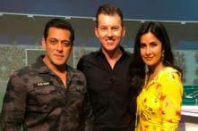 Salman Khan, Katrina Kaif Promote Bharat with Brett Lee During IPL Finale, See Pics