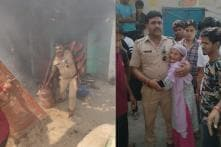 Brave UP Police Officer Walks Into Burning House, Retrieves LPG Cylinders