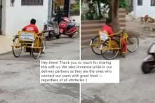 Video of Differently Abled Zomato Delivery Guy Goes Viral, Twitter Calls Him a 'True Inspiration'