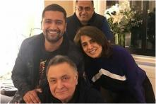 Vicky Kaushal Meets Rishi Kapoor and Neetu Singh in New York