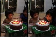 2-Years-Old Makes Sis Blow Out Candles on Her Birthday Cake, Wins the Internet