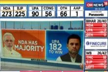 NDA Touches 272 In Leads , Rahul Gandhi Trailing From Amethi @9:25