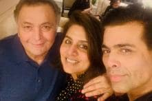 Karan Johar Meets His 'Favourite Couple' Rishi and Neetu Kapoor in New York