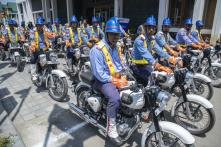 J&K Governor Flags off New Traffic Police Squad With 110 Motorcycles