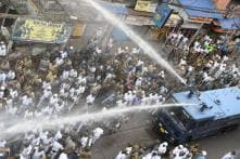 Mamata Banerjee-BJP Face-Off: Water Canons Greet Saffron Brigade at Lalbazar