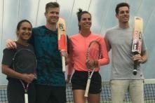 Cricket Meets Tennis at New Zealand Practice