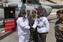 In First Visit as Defence Minister, Rajnath Singh Meets Troops in Siachen With Army Chief