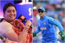 'We Don't Exist So You Can': Dhoni Finds Another Supporter in Smriti Irani Amid Glove Row
