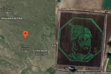 Maharashtra Farmer Pays Tribute to Shivaji With a Portrait and it Can Be Seen Using Google Maps