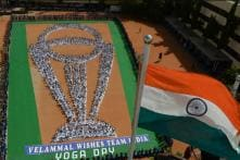 Chennai Students 'Bring' Cricket World Cup Trophy Home On International Yoga Day 2019