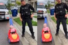 Police Officer Pulls Over 10-Month Old Daughter for 'Driving' On Wrong Side of the Road