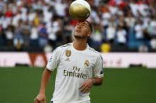Real Madrid Present New 'Galactico' Eden Hazard to Fans at Santiago Bernabeu
