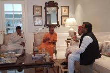 In Rare Bonhomie, Yogi Adityanath Visits Mulayam; Akhilesh & Estranged Uncle Shivpal Join in Too