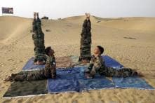 International Yoga Day 2019: Soldiers Perform Yoga in Dunes