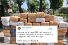'Don't Panic, We Found it': Assam Police on Twitter 'High' After Busting 500 Kg Cannabis