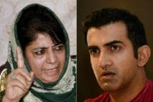 Mehbooba Says Use of Brute Force to Solve Kashmir Issue 'Ridiculously Naive', Gambhir Responds