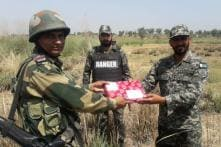 BSF and Pakistan Rangers Exchange Sweets on Occasion of Eid