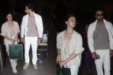Twinning in White, Ranbir Kapoor-Alia Bhatt Head to Varanasi for Next Schedule of Brahmastra