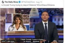 Trevor Noah Jokes that Trump's Anti-immigrant Rhetoric Is a Facade to Get Melania Deported