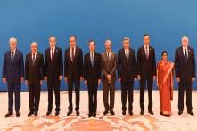 Former Foreign Minister Sushma Swaraj with World Leaders