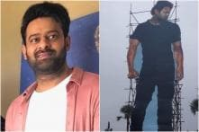 Prabhas' 70-Foot Tall Cutout Installed in Hyderabad Ahead of Saaho Release