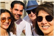 Rajkummar Rao, Patralekhaa Bump into Rishi and Neetu Kapoor in New York